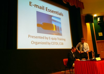 E-mail Essentials workshop with E-quip Training